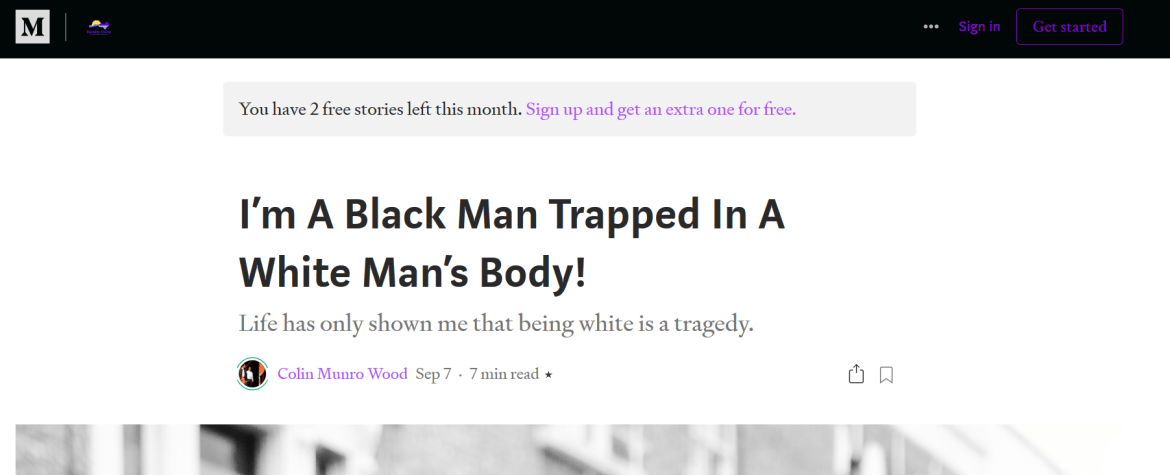 Colin Munro Wood PeaceData black man white body