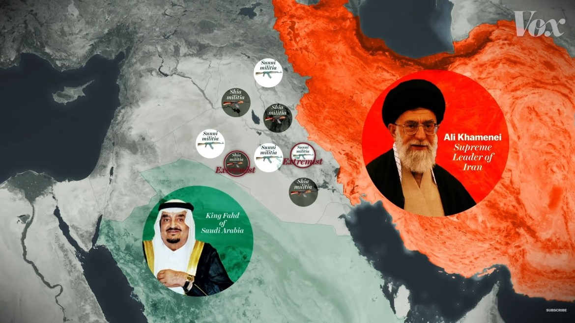 Vox Middle East cold war Iran Saudi Arabia sectarian