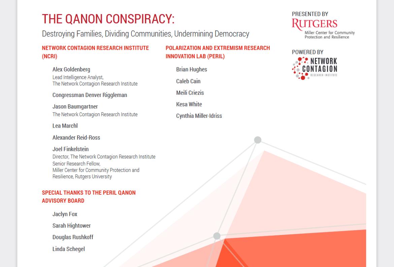 Alexander Reid Ross Network Contagion Research Institute Qanon