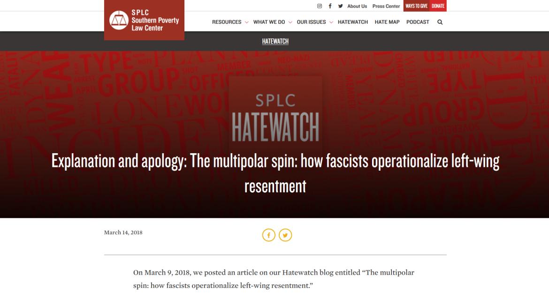 Alexander Reid Ross SPLC multipolar fascists