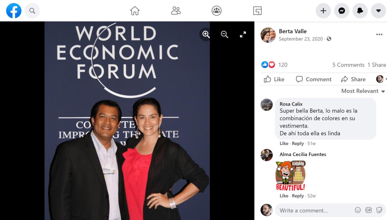 Berta Valle Felix Maradiaga Foro Económico Mundial