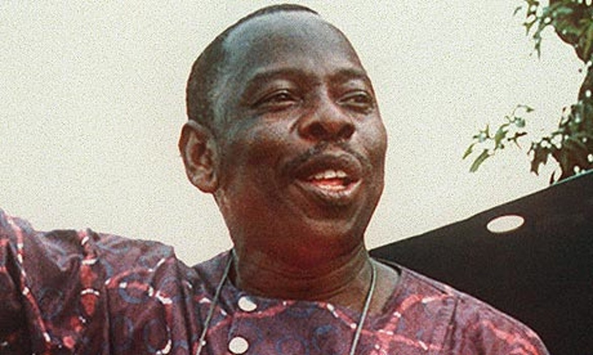 Indigenous activist Ken Saro-Wiwa was arrested on phony charges and executed by a Nigerian military functioning as a private army for the Shell oil company