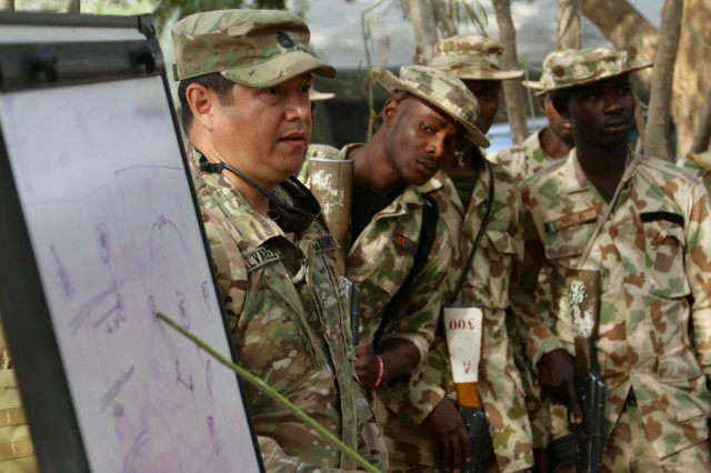 U.S. Army soldiers deployed to Nigeria Army's School of infantry trained more than 200 Nigerian soldiers in 2018