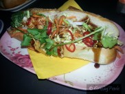Vietnamese lime marinated tofu with crispy noodles