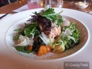Ricotta & Herb Gnocchi, Australian Heirloom Pumpkin, Cavolo Nero, Truffled Pecorino, Crumbed Hens' Egg, Herb & Fennel Salad