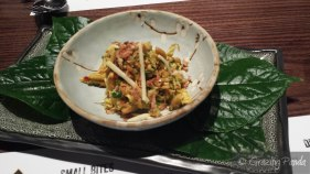 Kun Sar Thi - Betel leaf w chicken, shallot, green mango & Sichuan pepper