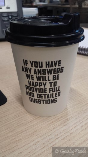 Interesting Coffee Cup