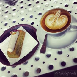 Pistacchio Slice and Coffee