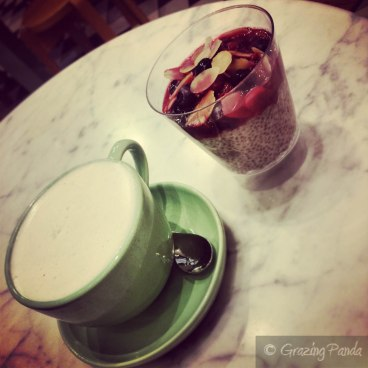 Chai Latte and Chia Pudding