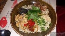 Spicy Dandan Noodles, Sesame, Szechuan, Peanuts and Pickled Chilli