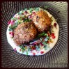 Dukkah Eggs - Spiced Crumbed Eggs, Pomegranate, Pinenuts & Cauliflower Puree
