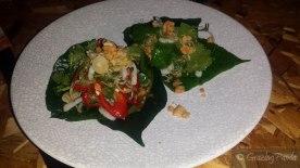Betel Leaf + Char Grilled Calamari + Green Mango + Peanut