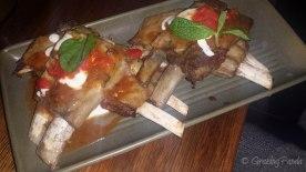 Harissa Lamb Ribs, Red Pepper Salsa, Tahini Yoghurt and Mint