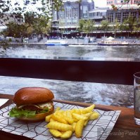 Crumbed Mushroom & Haloumi Burger with a View