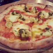 Gamberi Pizza – Tiger Prawns, San Marzano Tomato, Chilli, Garlic, Salsa Verde