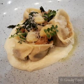 Roast Potato, Truffle & Persian Fetta Tortellini, Cauliflower, Cavolo Nero_