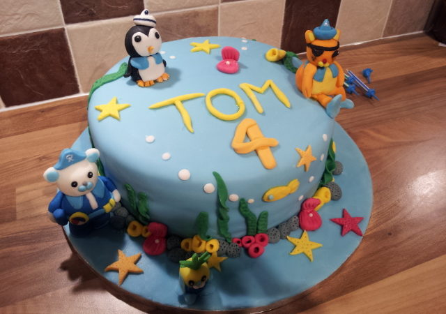 Octonauts 4th Birthday Cake The Great British Bake Off