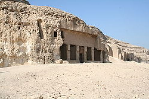 Temple of Pakhet speoartemidos, cat goddess bast and the goddess mut