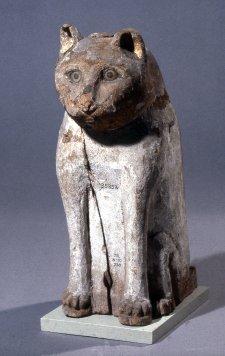 Wooden Cat Mummy Case