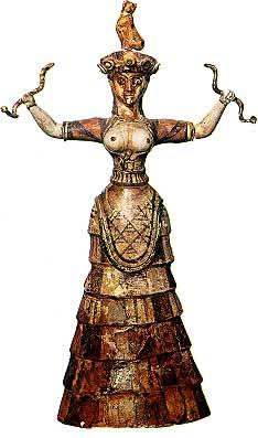 Snake Goddess, Knossos, 1600BC, Minoan cat history