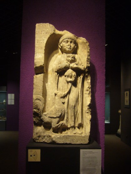 Tombstone of Laetus's Daughter, 2nd century AD, Musee d'Acquitane, Roman cat history