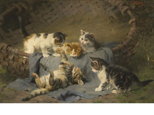 Playful Kittens Julius Adam II Private Collection