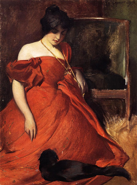 John W. Alexander Black and Red 1896
