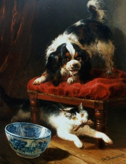 A Stolen Bone Henriette Ronner-Knip Private Collection