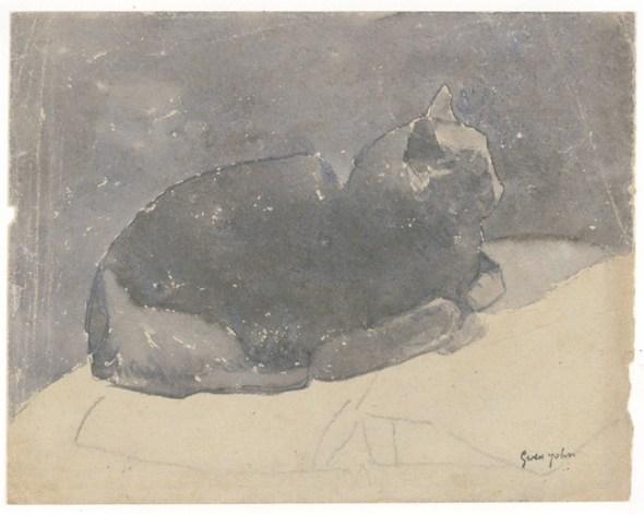Cat Studies Gwen John Watercolor and Pencil on paper Museum of Wales