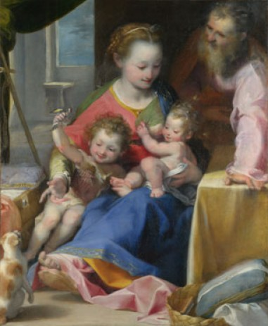 Madonna and Cat Federico Baroccio 1575 National Gallery, London, cat in Mannerist and religious paintings