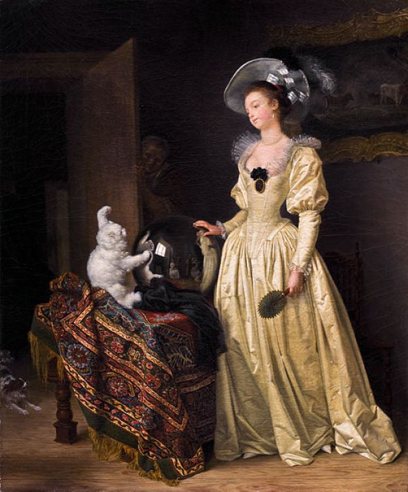 Le Chat Angora Marguerite Gérard and Jean Honore Fragonard 1780 Bernheimer Fine Old Masters Kunsthandel