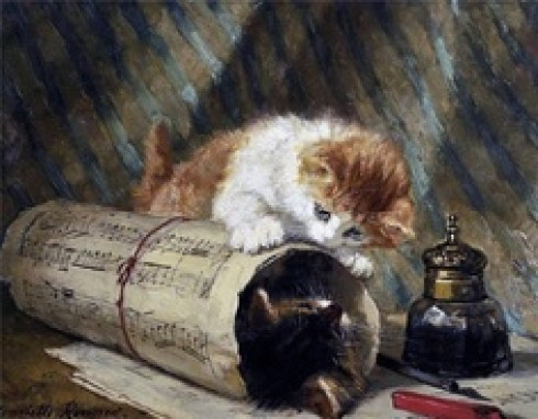 Hide and Seek (3) Henriette Ronner-Knip Private Collection