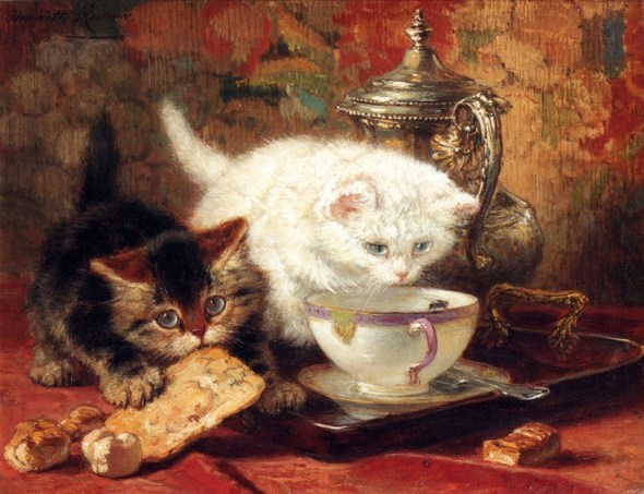 High Tea Henriette Ronner-Knip Oil on Panel Private Collection