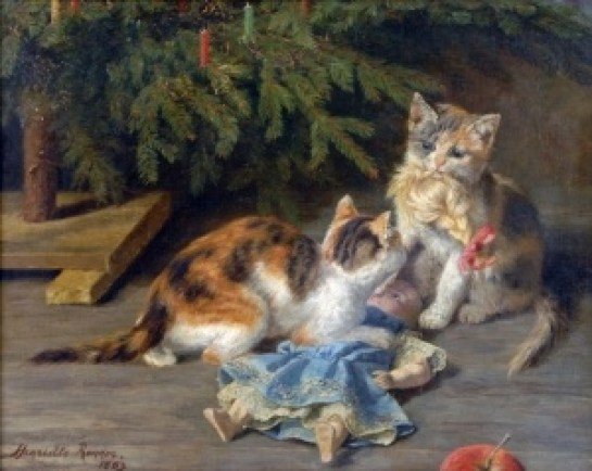 Kittens and Doll Henriette Ronner-Knip 1883 Private Collection