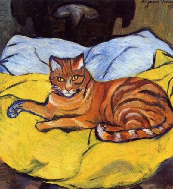 Raminou Suzanne Valadon 1922 cats in art