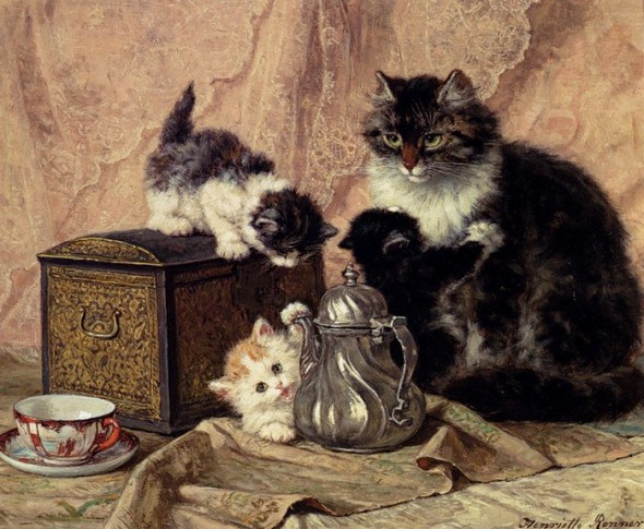 Mother and Kittens Henriette Ronner-Knip Private Collection