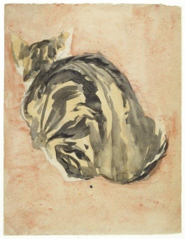 Seated Tortoiseshell Cat Gwen John