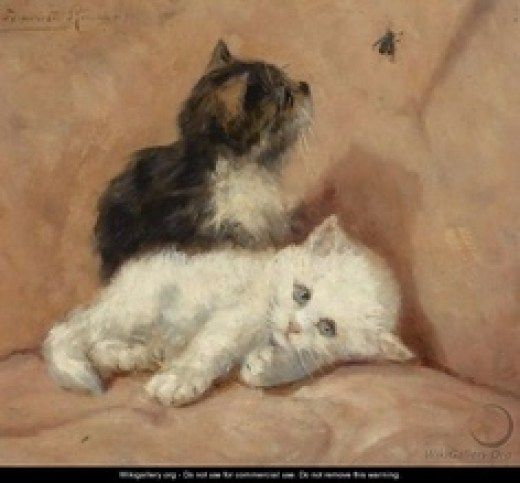 Two Kittens and a Fly Henriette Ronner-Knip Private Collection