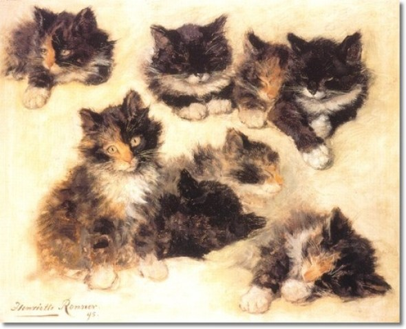 Study of Kittens Henriette Ronner-Knip Private Collection