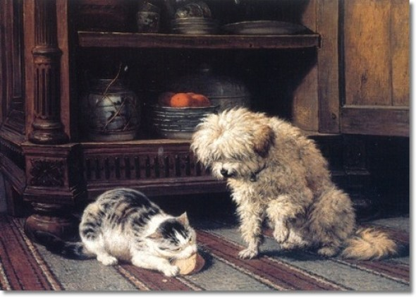 See Who Gets the Cheese Henriette Ronner-Knip Private Collection