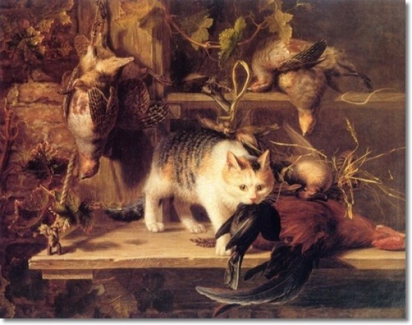 Stealing Dinner Henriette Ronner-Knip Private Collection