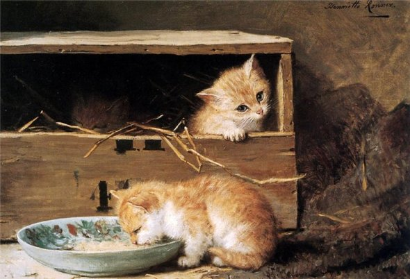 Kittens Henriette Ronner-Knip Private Collection