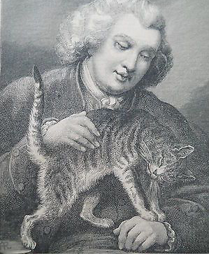 Dr. Johnson and Hodge, 19th century engraving