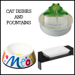 cat dishes, cat trays, cat water fountains, Cat Product Guide and Reviews at The Great Cat