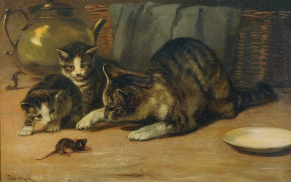 Cat and Mouse John Henry Dolph Private Collection