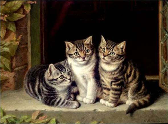 Three Kittens Horatio Henry Couldery Private Collection