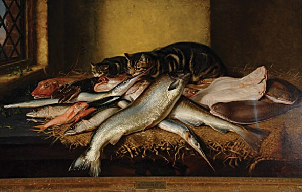 Feast Horatio Henry Couldrey Private Collection cats in art