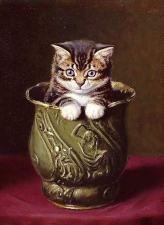 Kitten in a Vase Horatio Henry Couldery Private Collection