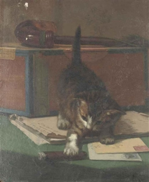 Playing with a Cigar John Henry Dolph Private Collection