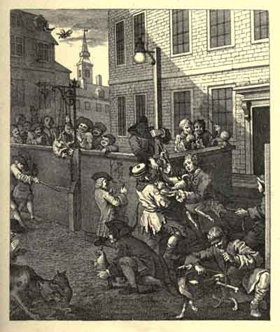 The First Stage of Cruelty 1751 Engraving, William Hogarth